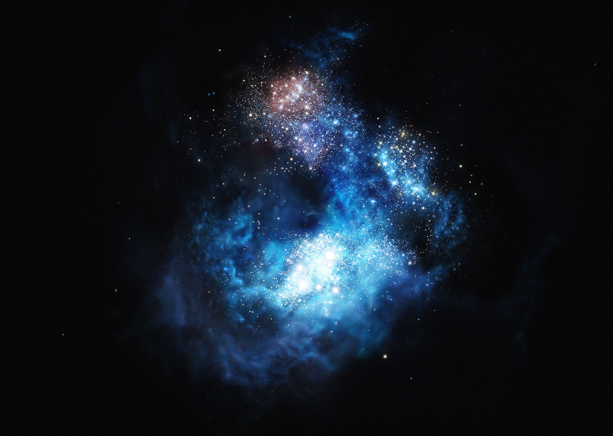 ظهور أدلة جديدة توحي بأن النجوم الأولى تشكلت أسرع بكثير مما توضحه نماذجنا للكون - كيف تشكات أولى النجوم في الكون - الانفجار العظيم