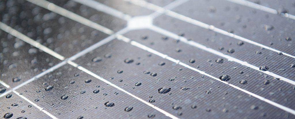 خلية شمسية هجينة بإمكانها انتاج الكهرباء من قطرات المطر