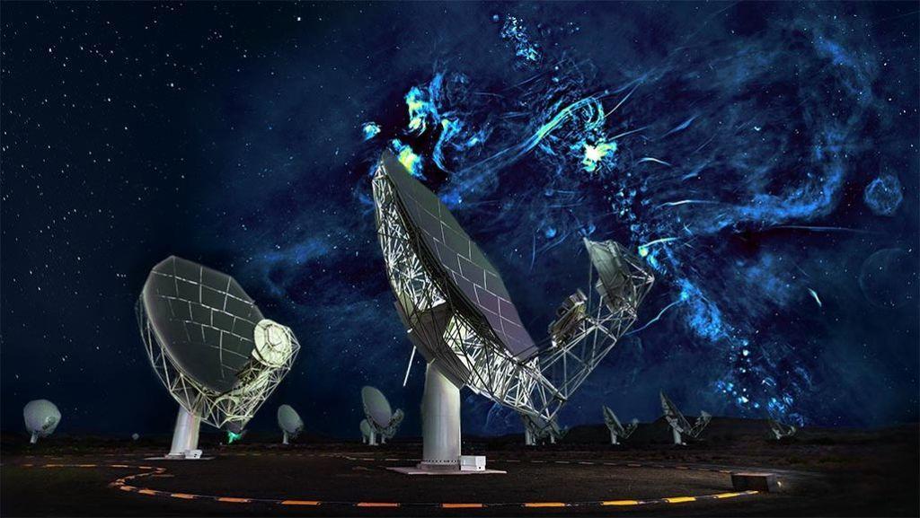 علماء الفلك يكتشفون فقاعات راديو عملاقة تتمدد من قلب درب التبانة فقاعات ضخمة من موجات الرادبو تمتد على جانبي مجرة درب التبانة