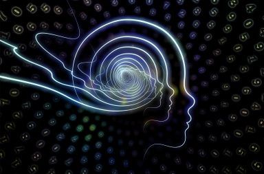 تظهر بيانات التصوير بالرنين المغناطيسي الوظيفي مناطق النشاط العصبي بالدماغ (باللون الأصفر والأحمر) استجابةً لمحفز بصري.