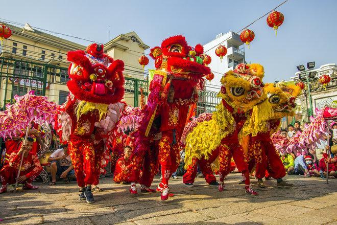 تضم احتفالات السنة الصينية الجديدة رقصات التنين والأسد.