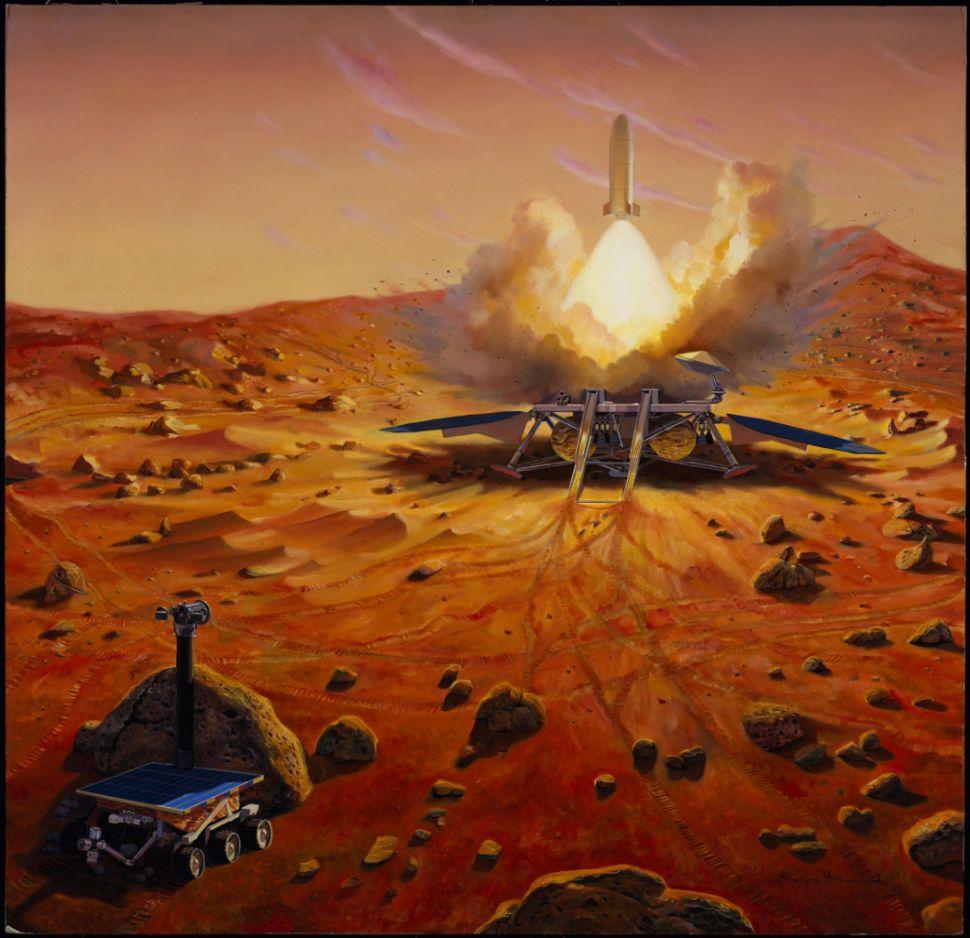 تصور فني لمهمة إحضار العينات المريخية