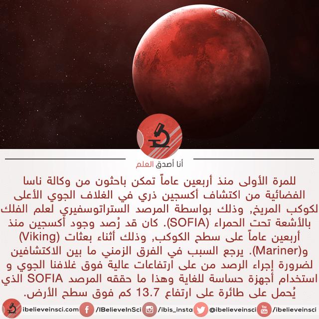 ناسا: اكتشاف أوكسجين على المريخ