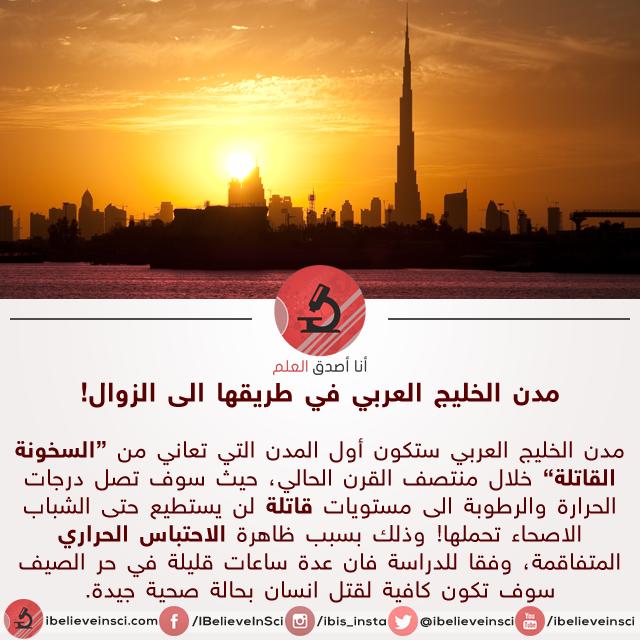 """ارتفاع درجات الحرارة الى مستوى """"السخونة القاتلة"""" في منطقة الخليج العربي"""