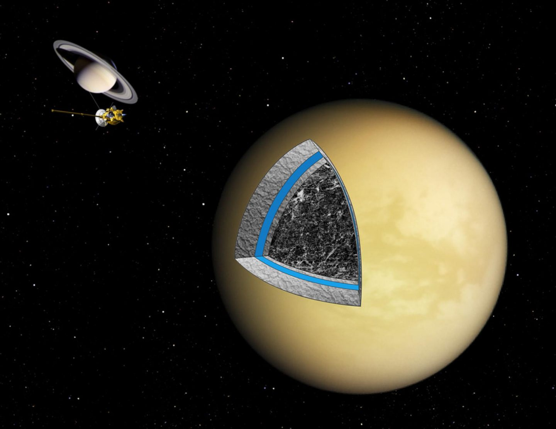 الخريطة الأولى لقمر كوكب زحل تيتان تكشف عن ميزات مدهشة