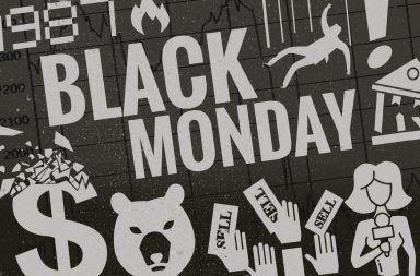 يوم الاثنين الأسود مؤشر داو جونز الصناعي Dow Jones Industrial Average انخفاض عالمي في أسواق الأسهم أسوأ الأيام سمعة في التاريخ المالي