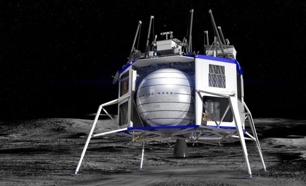 ناسا تختار سبيس إكس وبلو أوريجين وآخرين للانضمام إلى مشروع الهبوط على القمر - شركة spaceX وblue moon التابعة لشركة blue origin