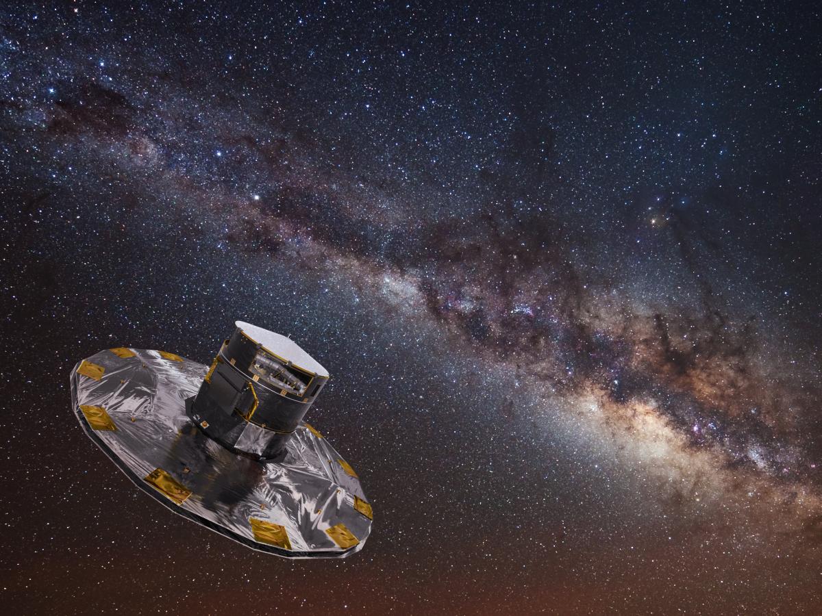 وصف الصورة: مركبة غايا Gaia الفضائية ترصد النجوم في مجرة درب التبانة