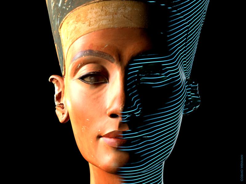 كُشف أخيرا عن مسح ثلاثي الأبعاد لتمثال نفرتيتي