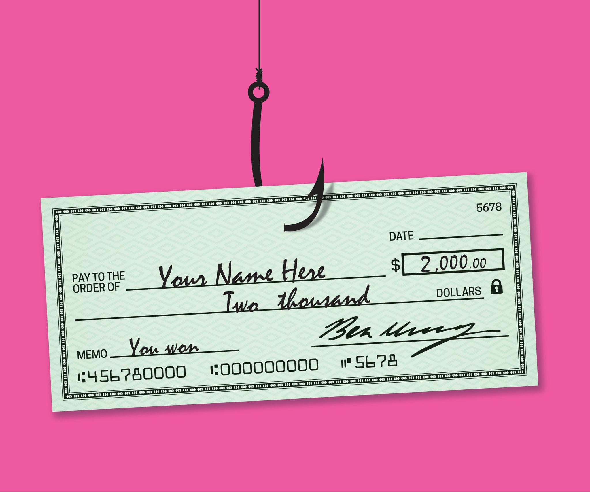 مفهوم الشيكات - ومؤرخ ومُوقع يُوجِّه البنك لدفع مبلغ معين من المال لحامل الشيك الذي يُعدّ الشخص المستفيد - طريقة آمنة لتحويل الأموال