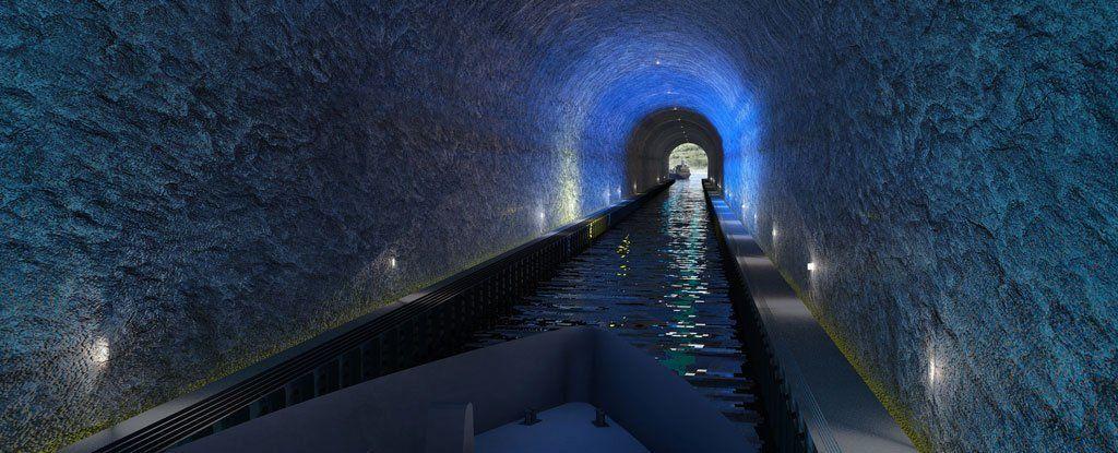 النرويج تبني أكبر نفق للسفن تحت شبه جزيرة