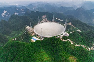 التلسكوب الراديوي الصيني الضخم المصمم لرصد الحياة في الفضاء يجتاز مرحلة الاختبار - تلسوكب صيني عملاق لكشف وجود الحياة في الفضاء