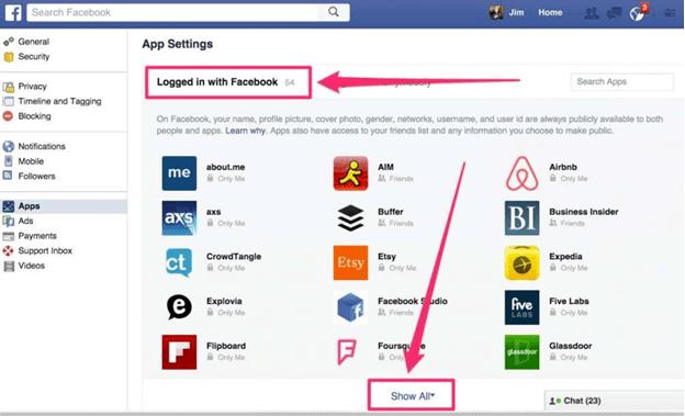 4 37 كيف تتمكن من معرفة وحظر التطبيقات التي تتتبّعك على فيس بوك؟