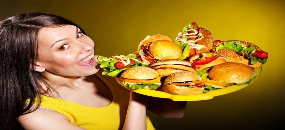 نهم الطعام، حين يجوع الشخص ويأكل دون توقّف