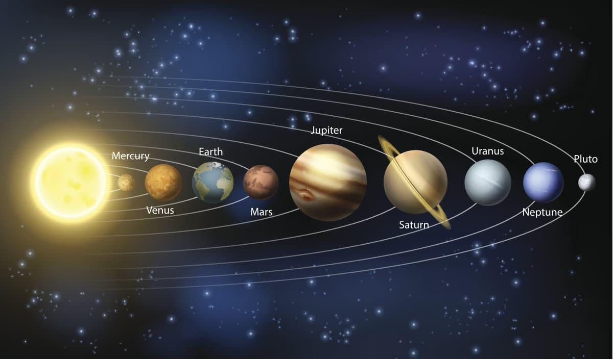 ما هي ألوان كواكب مجموعتنا الشمسية؟
