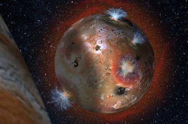 بركان عملاق على قمر كوكب المشتري يمكن أن يثور في أي يوم بحيرة من الحمم قمر آيو moon Io بحيرة لوكي باتيرا Loki Patera ثوران بحيرة لوكي باتيرا