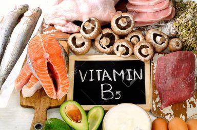 فيتامين B5: وظيفته ومصادره وأعراض نقصه فيتامين قابل للذوبان في الماء ضمن مجموعة فيتامينات B استقلاب وتصنيع الدهون والبروتينات حمض البانتوثينيك