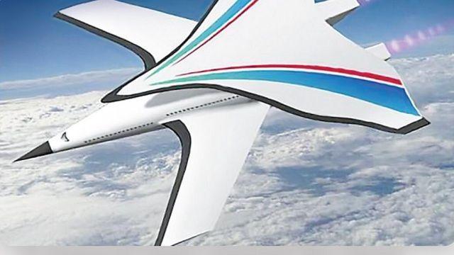 علماء صينيون يكشفون الستار عن مشاريع لطائرةٍ غريبةٍ فائقة السرعة مع جناحٍ إضافيّ