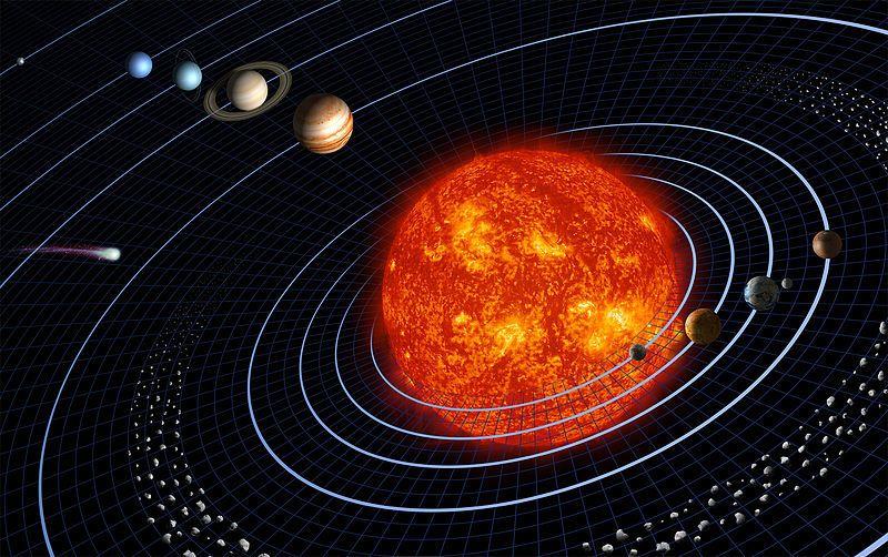 إذا كان للشمس جاذبية فلماذا تدور الأجسام حولها بدل التوجه نحوها مباشرة؟