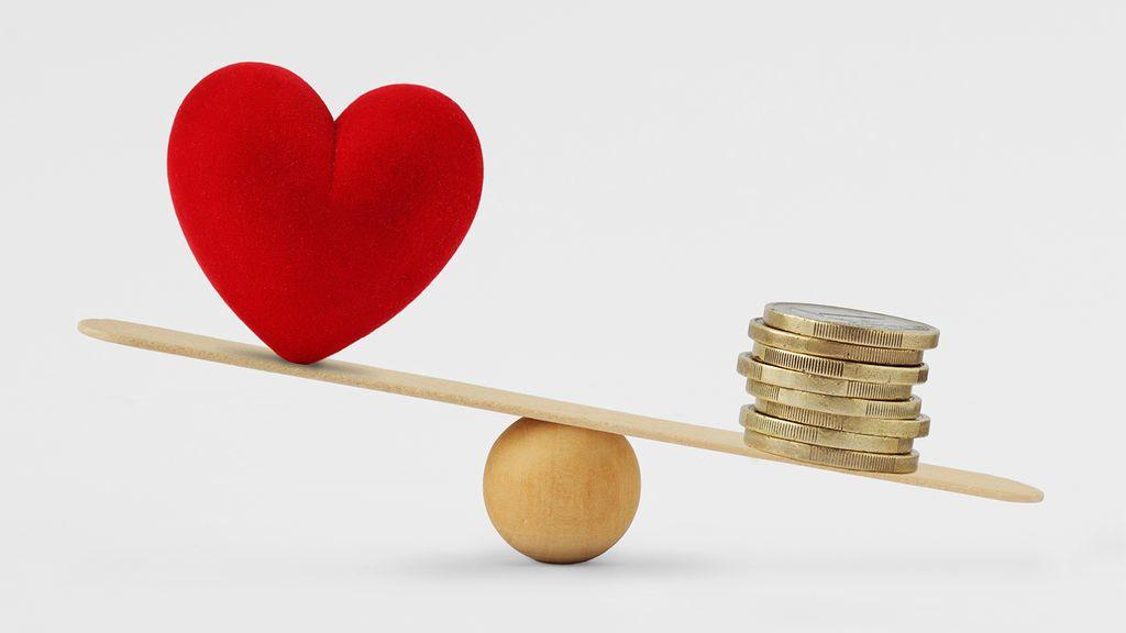 القيم الأخلاقية المال المادية الدماغ