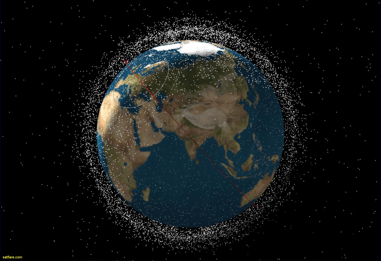 لماذا لا نرى الأقمار الصناعية ، والحطام المداري وغيرها في الصور الملتقطة للأرض من الفضاء الخارجي ؟