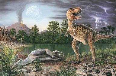 انقراض الديناصورات منذ 65 مليون سنة كيف انقرضت الديناصورات ما هو الانقراض الجماعي المذنب الذي نهى الحياة على الأرض موت الديناصورات