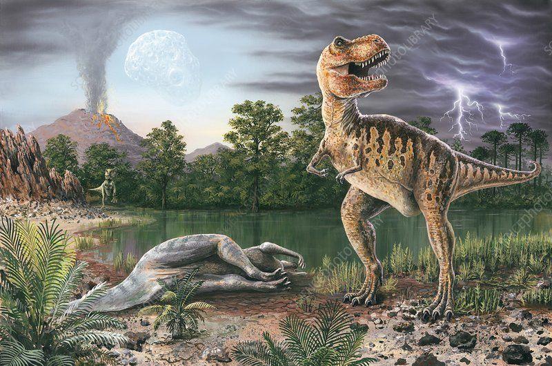 انقراض الديناصورات منذ 65 مليون سنة
