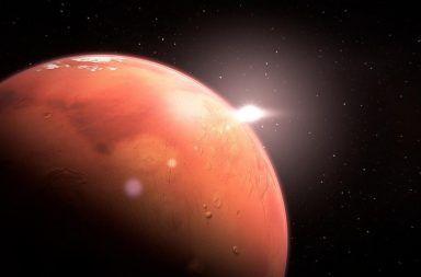 المريخ الكوكب الأحمر الحديد أكسيد الحديد أحمر