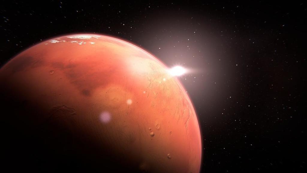 لماذا لون المريخ أحمر ؟