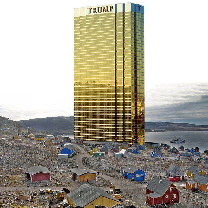صورة ساخرة حول فكرة شراء غرينلاند: