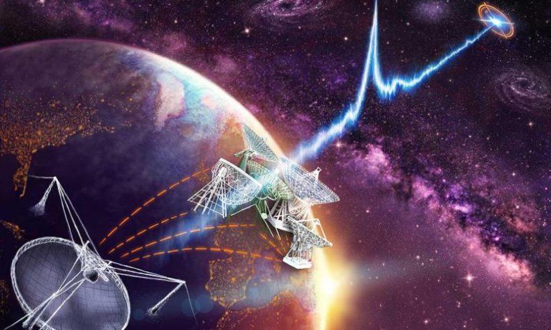 رصد إشارات راديو متكررة غير متوقَعة المصدر عبر الفضاء