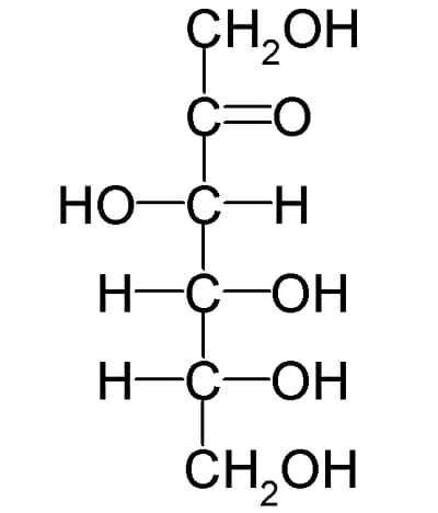 The chemical form of fructose