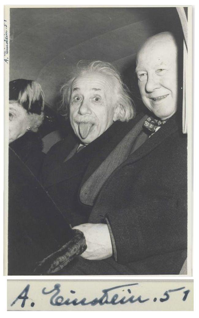 بيعت هذه الصورة لأينشتاين التي حملت توقيعه بقيمة125 ألف دولار