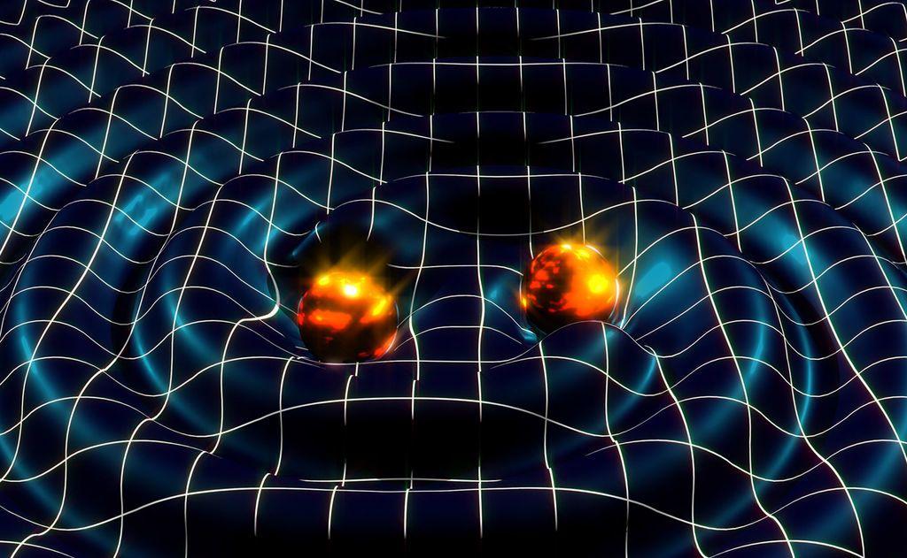 موجات الجاذبية بماذا أفادنا اكتشاف أمواج الجاذبية أين توجد مراصد موجات الجاذبية دوران الأجسام الضخمة في الكون النجوم النيوترونية الثقوب السوداء الموجات