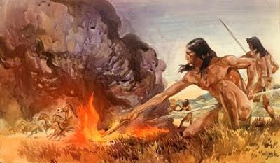 سلسلة تاريخ البشرية 5 ، دور النار في وصول الانسان الى قمة هرم السلسلة الغذائية