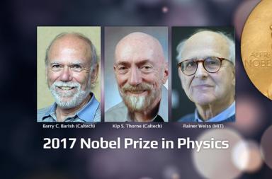 مؤسسي مرصد ليغو بجائزة نوبل