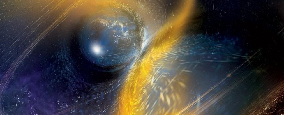 للمرة الثانية يرصد العلماء اصطدام نجم نيوتروني ملحمي - اكتشف أحد مقاييس التداخل لدى مرصد ليغو نجمين نيوترونيين يدوران حول بعضهما - الموجات الثقالية
