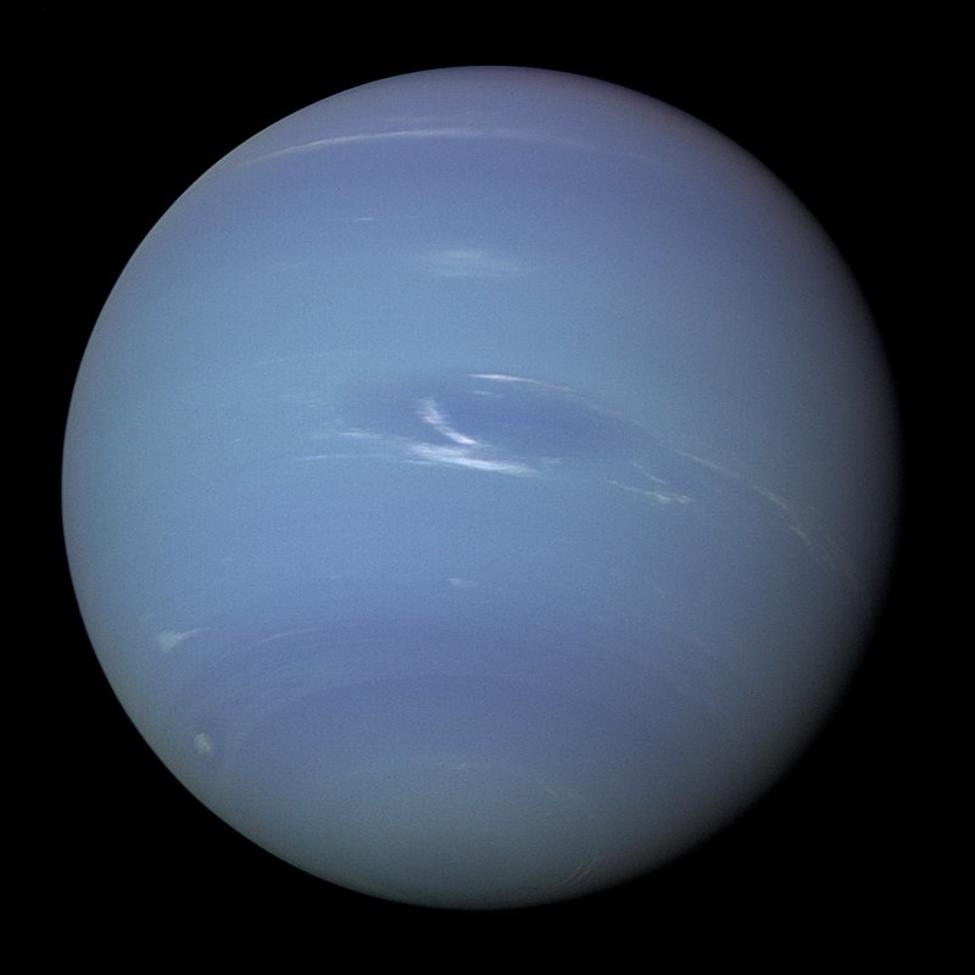 كوكب نيبتون في الصورة التي التقطها فوياجر 2