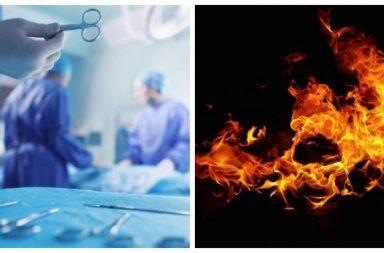 وفاة مريضة سرطان بعد احتراقها حية على طاولة عمليات الجراحة - توفيت امرأة بعد اشتعالها عن غير قصد على طاولة العمليات في إحدى مستشفيات رومانيا