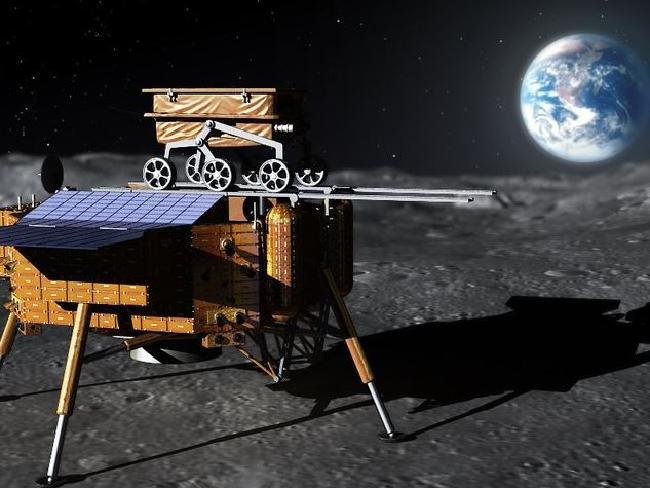 على الجانب البعيد من القمر يبدأ المتجول الصيني ومركبة الإنزال يومهما القمري الخامس عشر - أول هبوط على الإطلاق على الجانب البعيد للقمر - تشانج آه