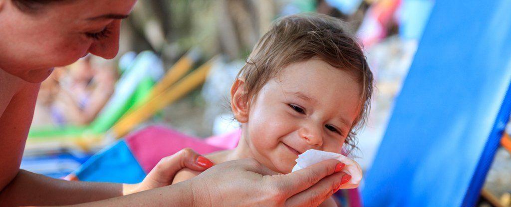 العلاقة بين الأتربة ،والطعام ،ومناديل الأطفال ،وإصابتهم بالحساسية