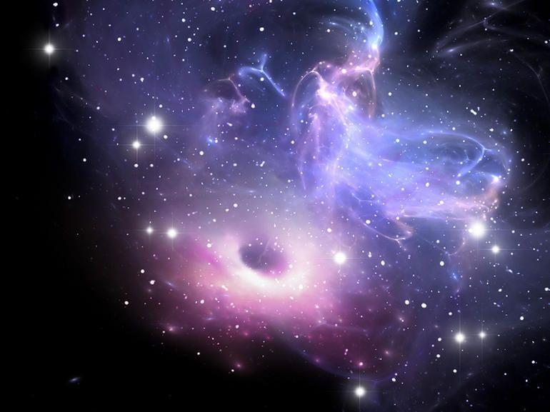 هل تلتهم الثقوب السوداء الهائلة الكون؟