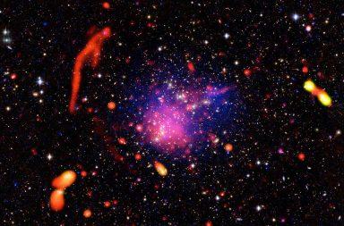 ظاهرة غريبة تسبب تزامن المجرات البعيدة - مجرات تبدو كما لو كانت متصلةً بشبكة من هياكل هائلة خفية - مجرات بعيدة عن بعضها ولكنها متزامنة بشكل غريب
