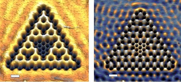 لأول مرة على الإطلاق اكتشف العلماء أنماطًا كسرية في مادة كمومية أنماط هندسية متكررة لانهائية في إحدة المواد الكمومية مغانط النيوديميوم