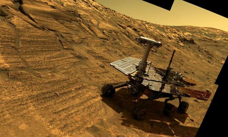 حقائق رائعة عن مسبار أوبرتيونيتي مركبة أوبرتيونيتي على المريخ استكشاف الكوكب الأحمر بعثة ناسا إلى الكوكب الأحمر روبوت على سطح كوكب المريخ