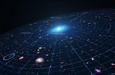 التوسع الكوني إلى ماذا يتوسع الكون ما هو شكل الكون البالون الانفجار العظيم تباعد المجرات الفضاء مسطح التمدد الكوني مسطح المسافة بين المجرات
