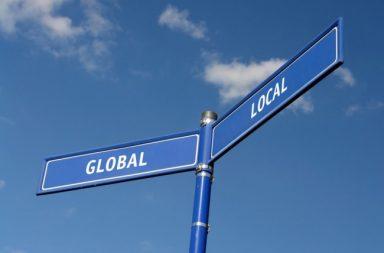 العولمة المحلية تطوير المنتجات أو الخدمات المحلية لتصبح جاهزة للتوزيع العالمي تلبية الحاجات داخل السوق المحلي المنتجات الدولية والعالمية