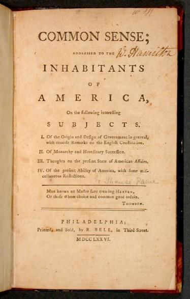 """"""" الحس العام """" الكتاب الذي هز امريكا و العالم"""