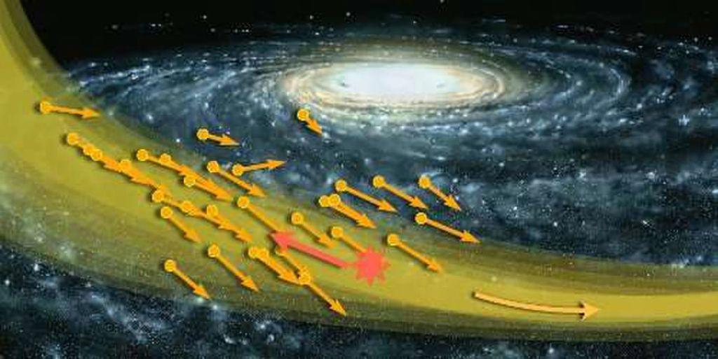 مرور تيار- S1 النجمي يوفّر فرصة للكشف عن الجسيمات الأولية المفترضة للمادة المضادة