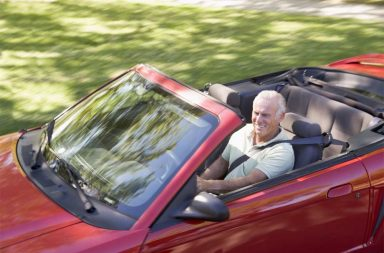 man-sports-car
